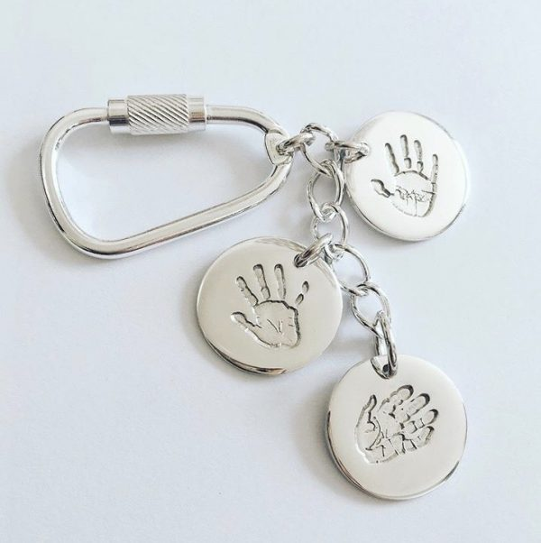 circle handprint keyring | personalised keyring | gifts for men