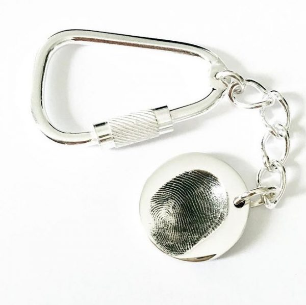 circle fingerprint keyring | personalised keyring