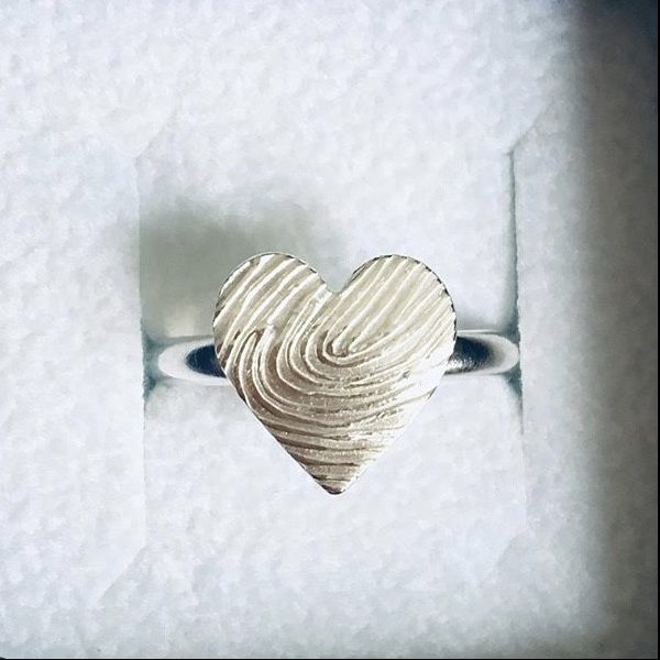 Fingerprint ring | memorial jewellery