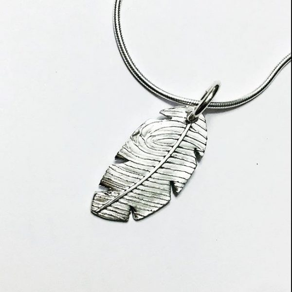 fingerprint feather pendant|fingerprint jewellery| memorial jewellery