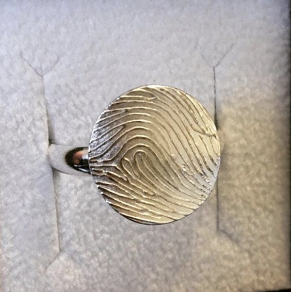 memorial jewellery| fingerprint ring