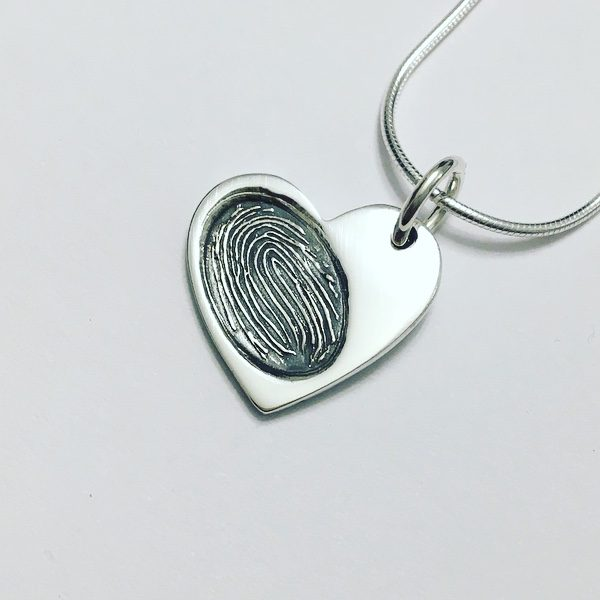 fingerprint memorial jewellery pendant