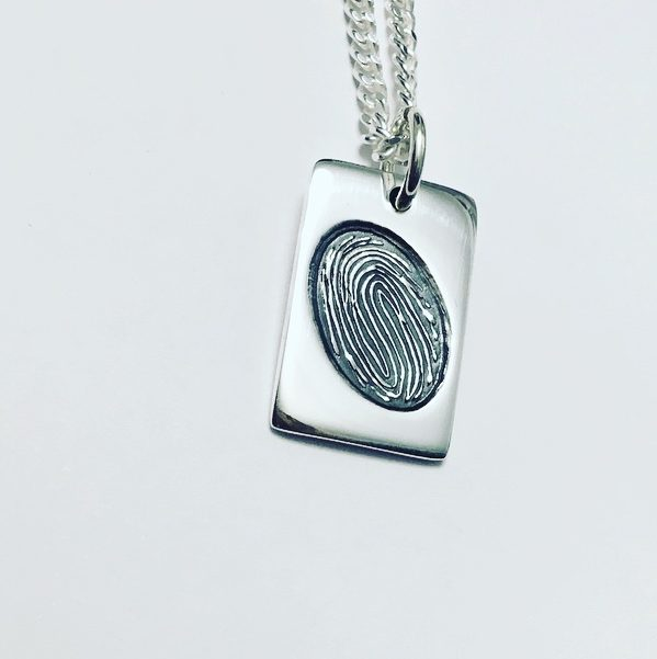 fingerprint memorial jewellery dogtag