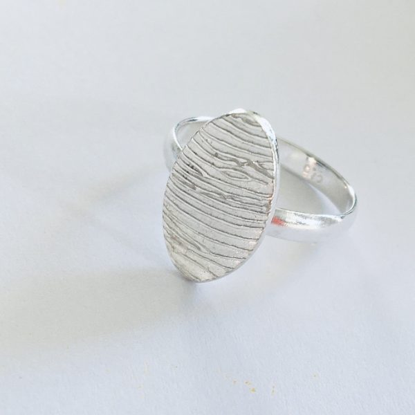 oval fingerprint ring, personalised gifts for woman