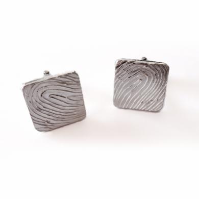 Personalised square Fingerprint Cufflinks